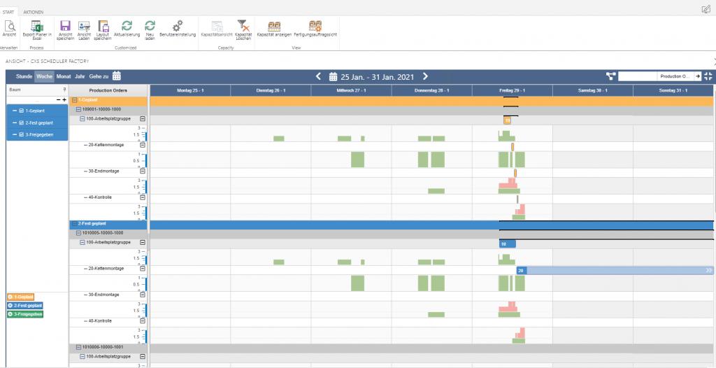 microsoft Scheduler Manufacturing ERP