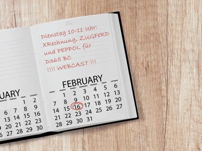 Save the Date: CX eRechnung im Webcast am 16.02.21, 10:00 Uhr